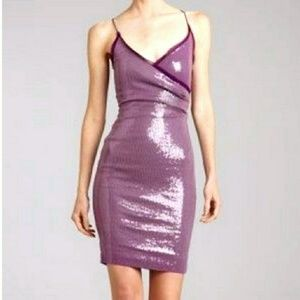 Nicole Miller lilac sequin mini dress Size 4